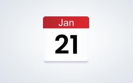 21st Jan calendar date