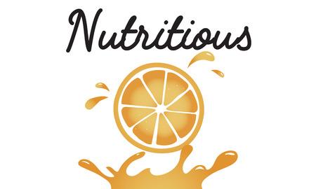 栄養価の高いジューシーなオレンジのイラスト 写真素材 - 82941392