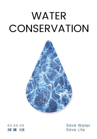 물 재활용 보존 방울 개념 스톡 콘텐츠