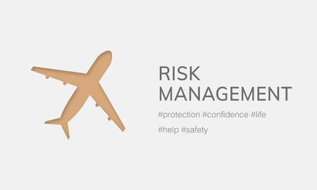 Illustration of aviation life insurance traveling trip Stock Photo