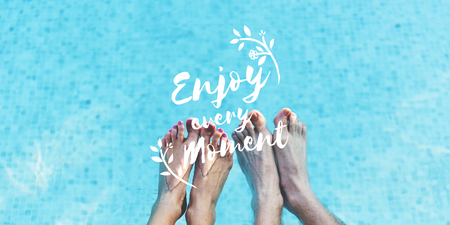 Enjoy Moment Things Positive Words Phrase Graphic Stock Photo