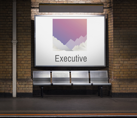 Advertisement board with executive concept