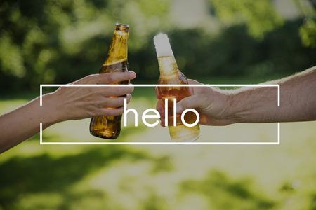 Hi Hello Kindness Greetings Icon Stock Photo