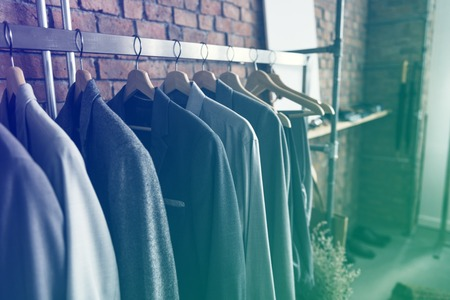 Cloths collection hanging on the rack