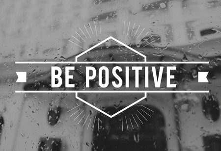 긍정적 인 개념을 지닌 흑백 스타일