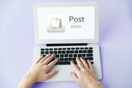 노트북에 개인 주최자 메모장의 그림