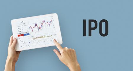 Financiële de grafiekgrafiek van de beurs Stockfoto