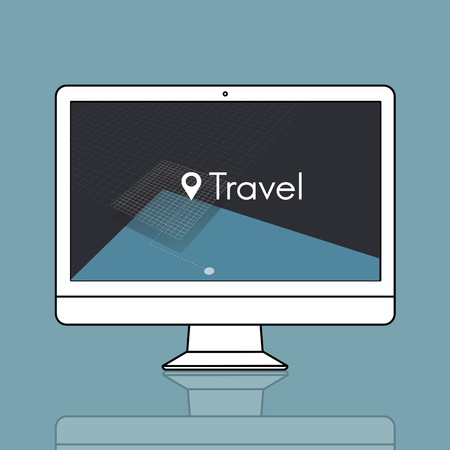 GPS location map travel graphic Stock Photo