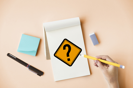 Question Mark Ask Sign Icon Stock Photo