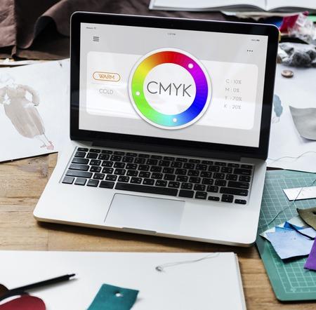 Colour CMYK Creativity Design Inspirational Stock Photo - 83039422