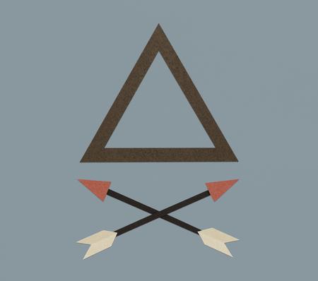 Triangle Pyramid Arrow Sign Icon Symbol Zdjęcie Seryjne