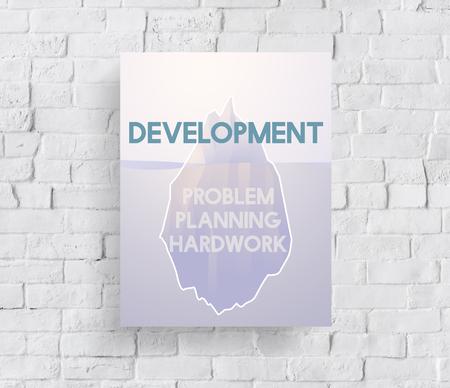 Problem Planning Hard Work Achievement Iceberg Graphic Stock fotó