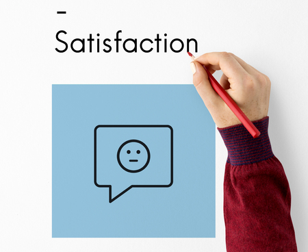 Review Evaluation Satisfaction Customer Service Feedback Sign Icon Stock Photo