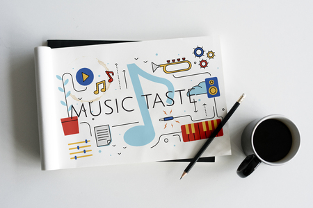 Music Taste Passion Lifestyle Word Graphic Stockfoto