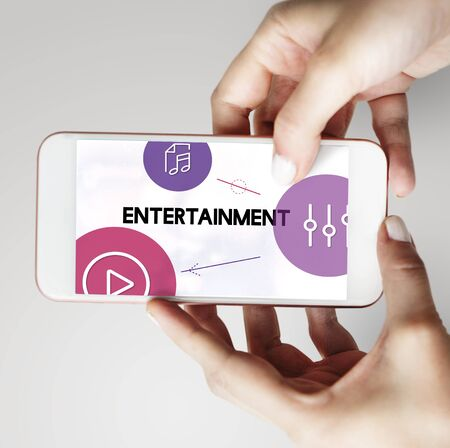 Music Streaming Media Entertainment Equalizer 版權商用圖片