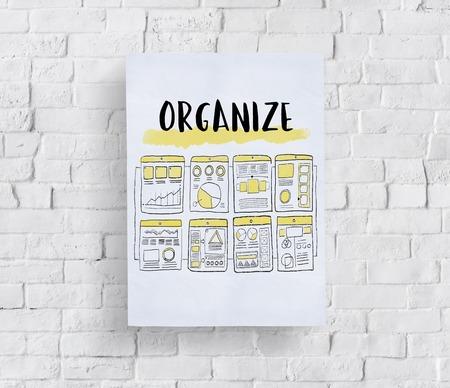 Contenu Organiser le diagramme de projet Sketch Drawing Banque d'images - 83002063