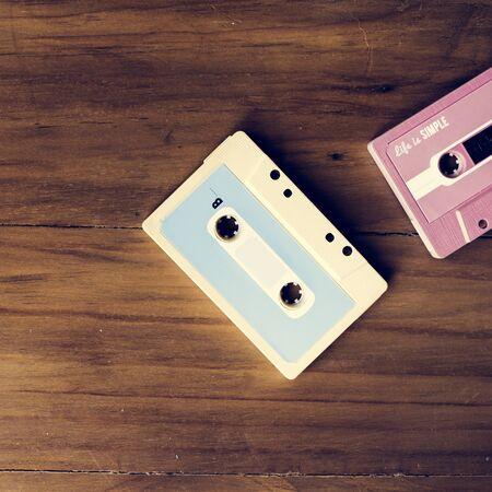 Cassette tape vintage set collection 版權商用圖片 - 83008182