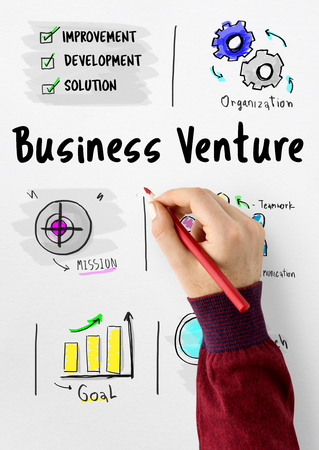 New Business Market Venture Expansion Growth Stok Fotoğraf