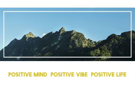 Positivity Life Motivation Passion Inspiration Word Graphic