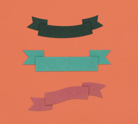リボン装飾グラフィック記号