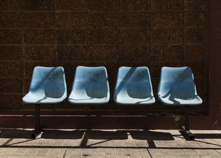 Chair Row Bus Sit Stdium
