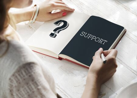 Question Mark Query Information Support Service Graphic Stock Photo