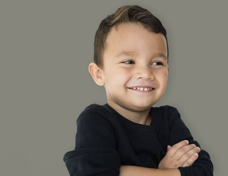 A little boy is really confidence Stock Photo - 83024539