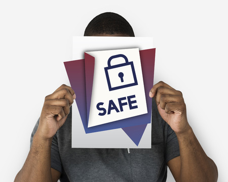 Safe sign insurance protection security 版權商用圖片 - 83022724