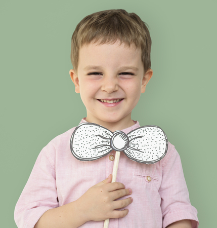 Little Boy Smiling Happiness Playful Bow tie