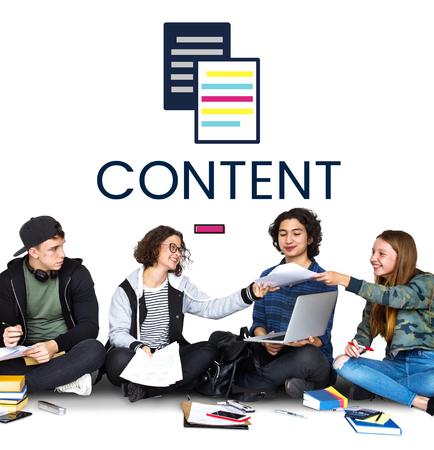 Illustration of online content data information Reklamní fotografie - 83022786