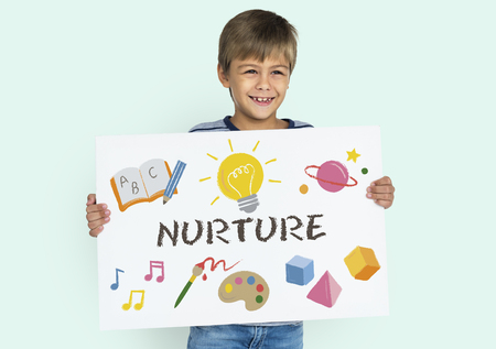Childrean Learning Nurture Graphic Icon Symbol