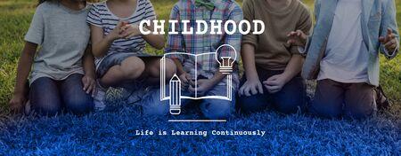 Childhood Kids Young Book Knowledge Word Graphic 版權商用圖片