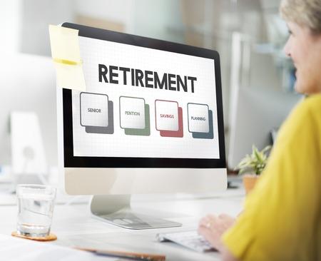 Retirement Plan Budget Investment Concept Stok Fotoğraf