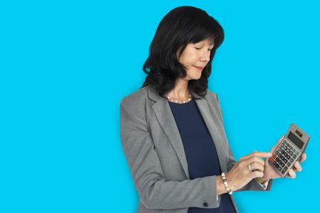 Business Woman Calculator Unhappy