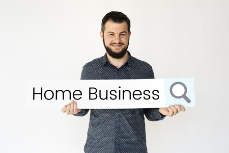 homeoffice: Entrepreneur networking connectivity home business Stock Photo