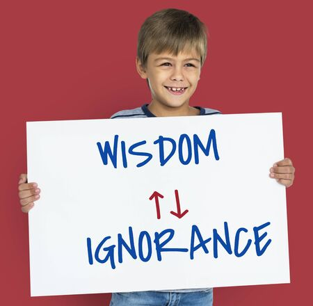 proficiency: Proficiency Antonyms Wisdom Ignorance Illustration Stock Photo