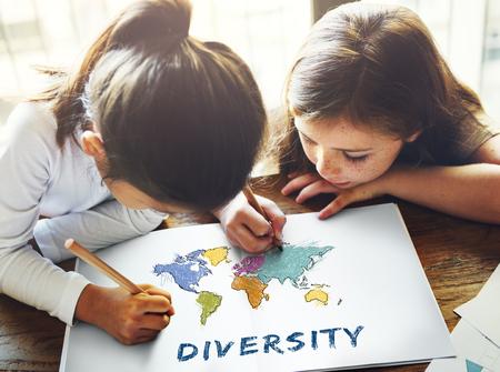 Education des enfants, apprentissage avec cartographie graphique Banque d'images - 83010139