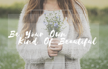 Be Your Own Kind Of Beautiful Phrase Words Stok Fotoğraf