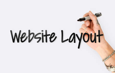 Website Design Content Layout Graphic Word Stock Photo
