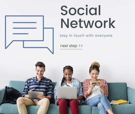 Netwerkverbinding grafische overlay billboard op de muur