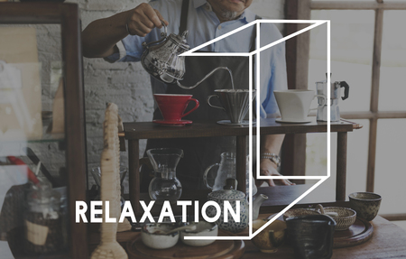 Coffee Beverage Relaxation Word Graphic