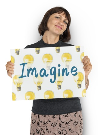 Imagine Light Bulb Ideas Icon 版權商用圖片