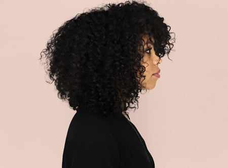 Side view of a woman