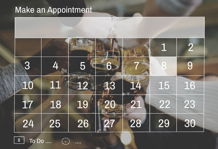 Illustration of calendar appointment schedule organizer Stock Photo