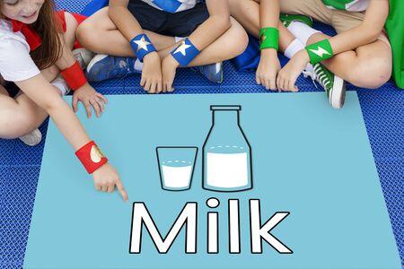 Dairy milk healthy nutrition drink Stock Photo