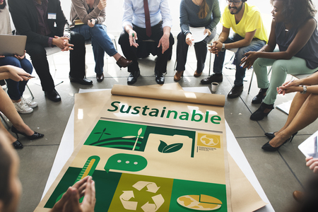 Umwelt Verantwortungsvolle grüne globale Ökologie Standard-Bild - 82955920