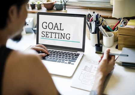 ビジネス マーケティング計画の目標設定戦略グラフィックス