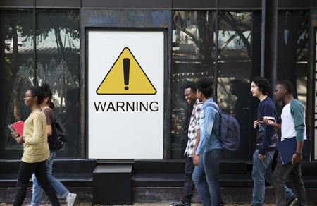 Warning Sign Caution Icon Word 版權商用圖片