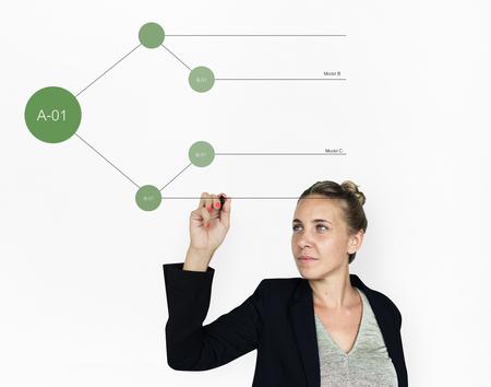 Tree Chart Graphic Information Icon Stock Photo