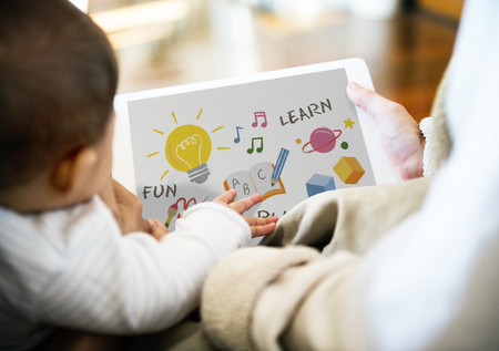 Illustration of child development education Stok Fotoğraf